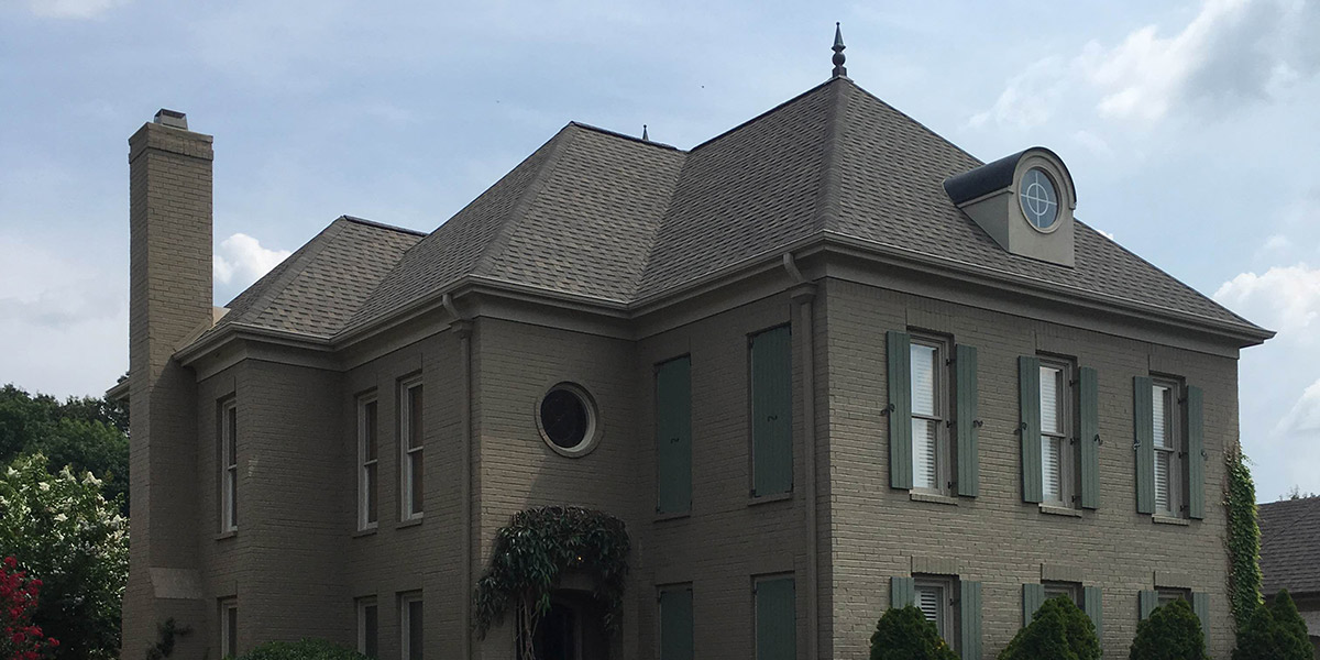 Historic house re-roofed with Atlas shingles