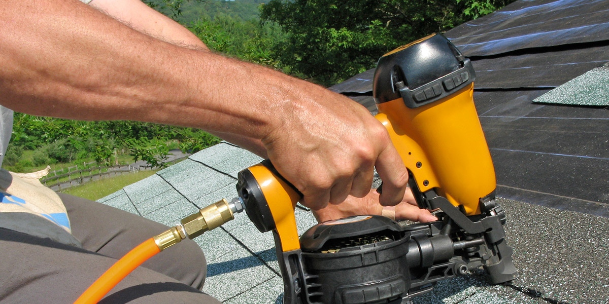Nail guns for roofing