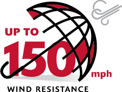 Up To 150mph Wind Resistance Logo