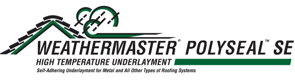 WeatherMaster® PolySeal™ SE Is A Durable, Self Adhering Modified Composite  Underlayment, Specifically Designed To Withstand The Rigors Of All Roofing  ...