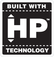 Built With HP Technology Logo