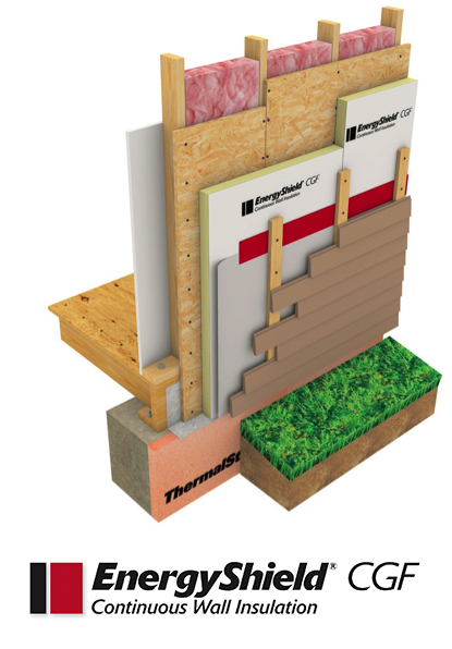 Energyshield cgf exterior wall insulation compliances for Exterior sheathing options