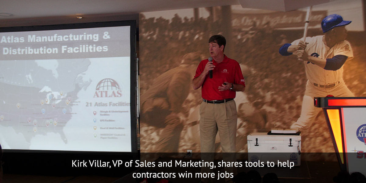 Kirk Villar, VP of Sales and Marketing, shares tools to help contractors win more jobs
