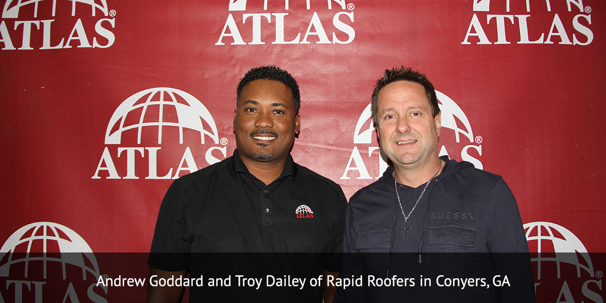 Andrew Goddard and Troy Dailey of Rapid Roofers in Conyers, GA