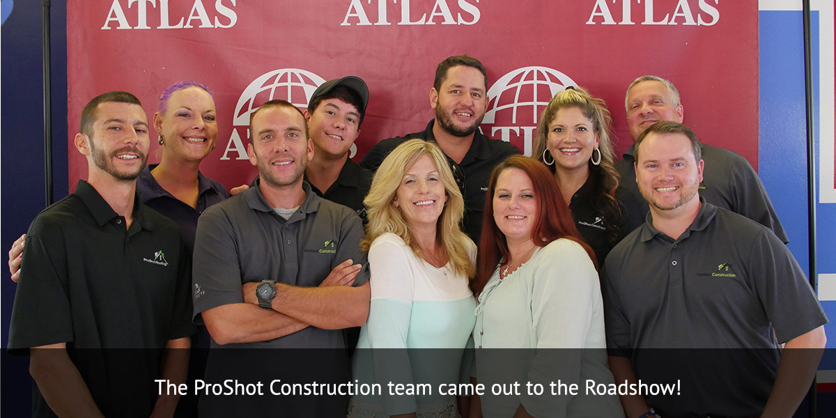 The ProShot Construction team came out to the Roadshow!