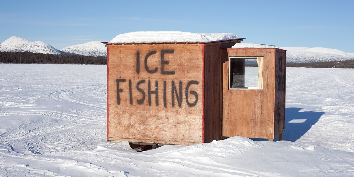 Ice Fishing Shack Cover