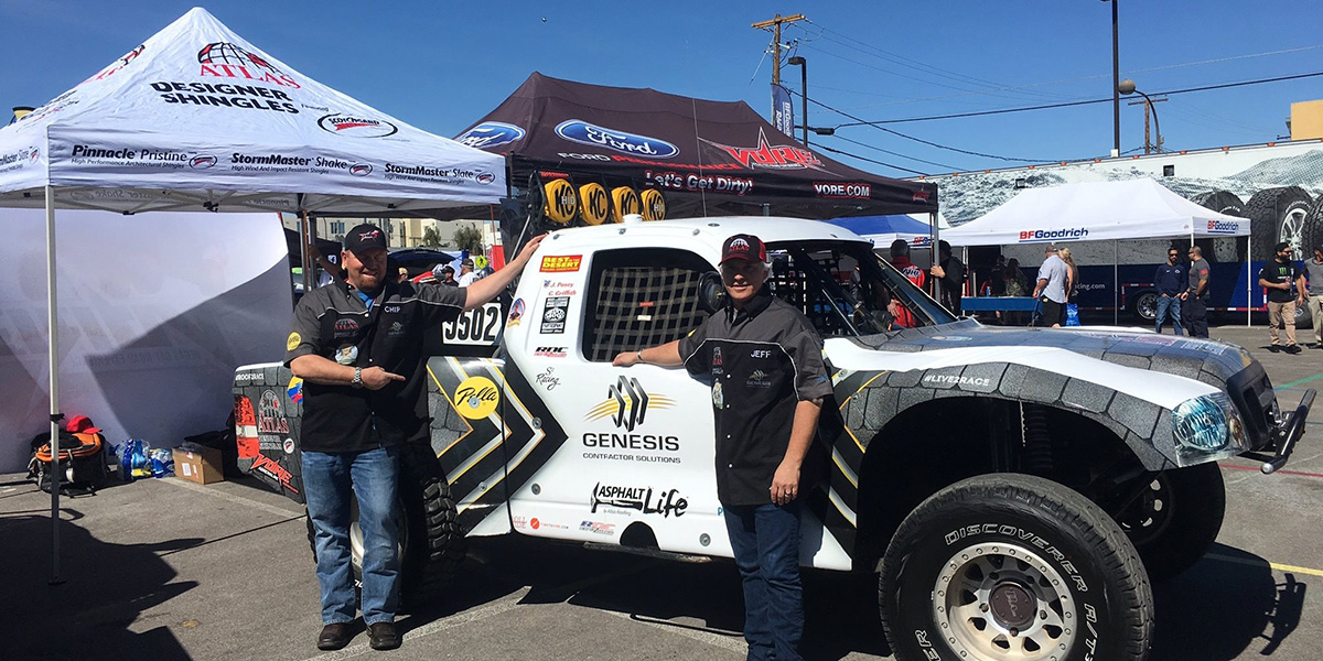 Showing off the car at Mint 400