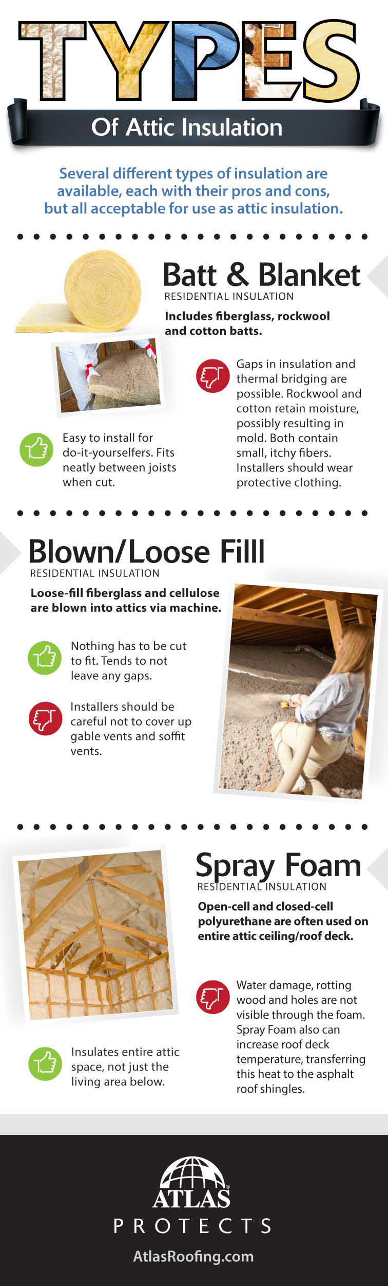 Types of Attic Insulation Infographic