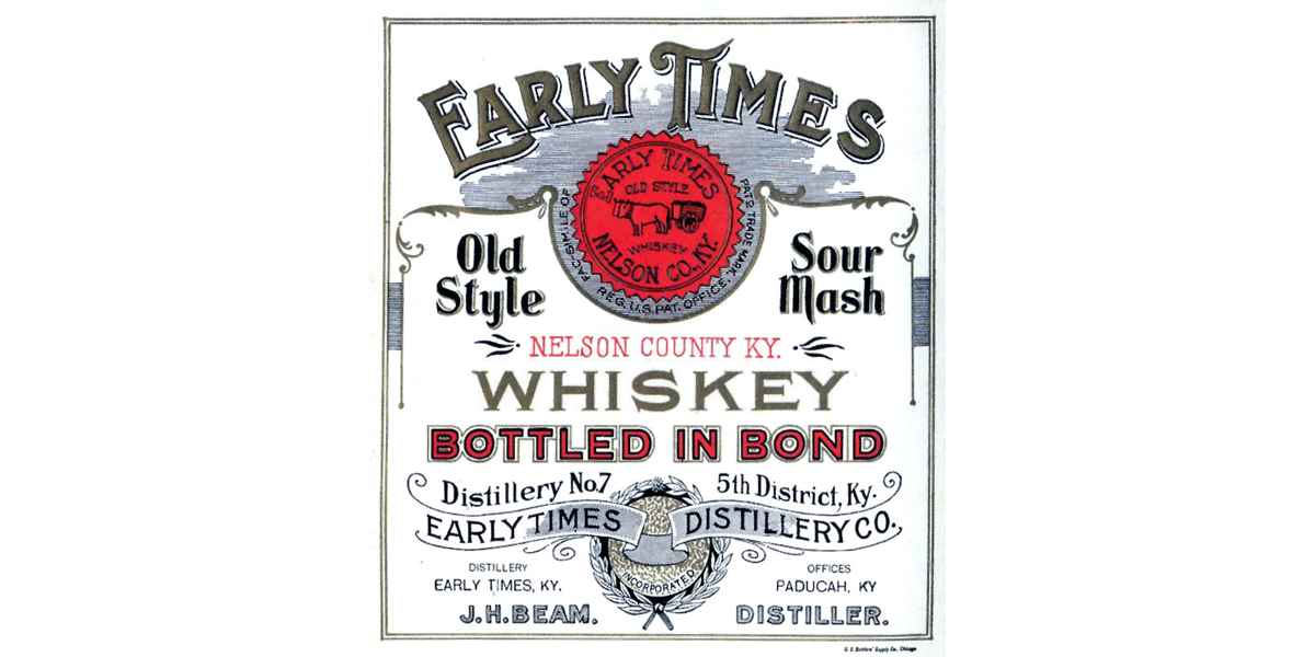 Early Times Liquor Label