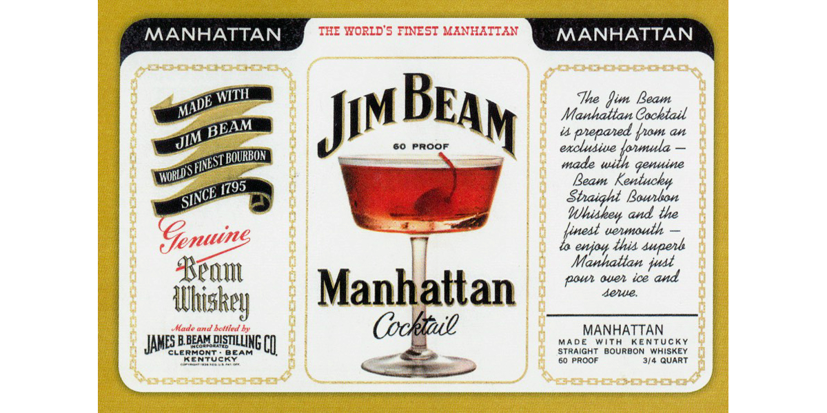 Jim Bean Liquor Label