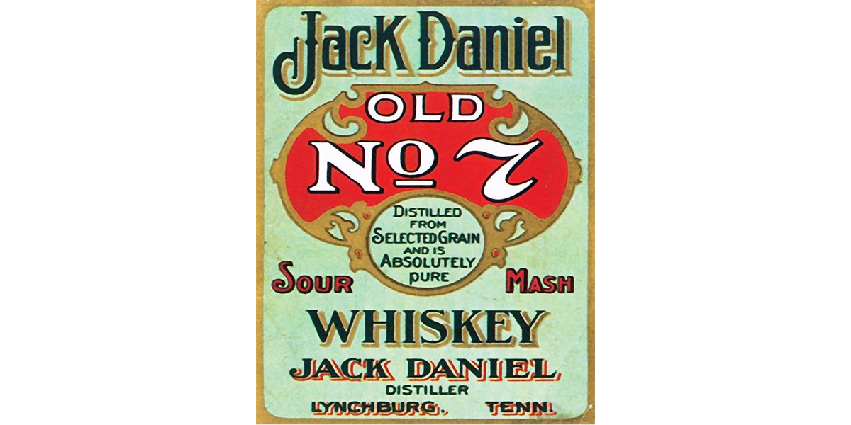 Jack Daniels Old Liquor Label