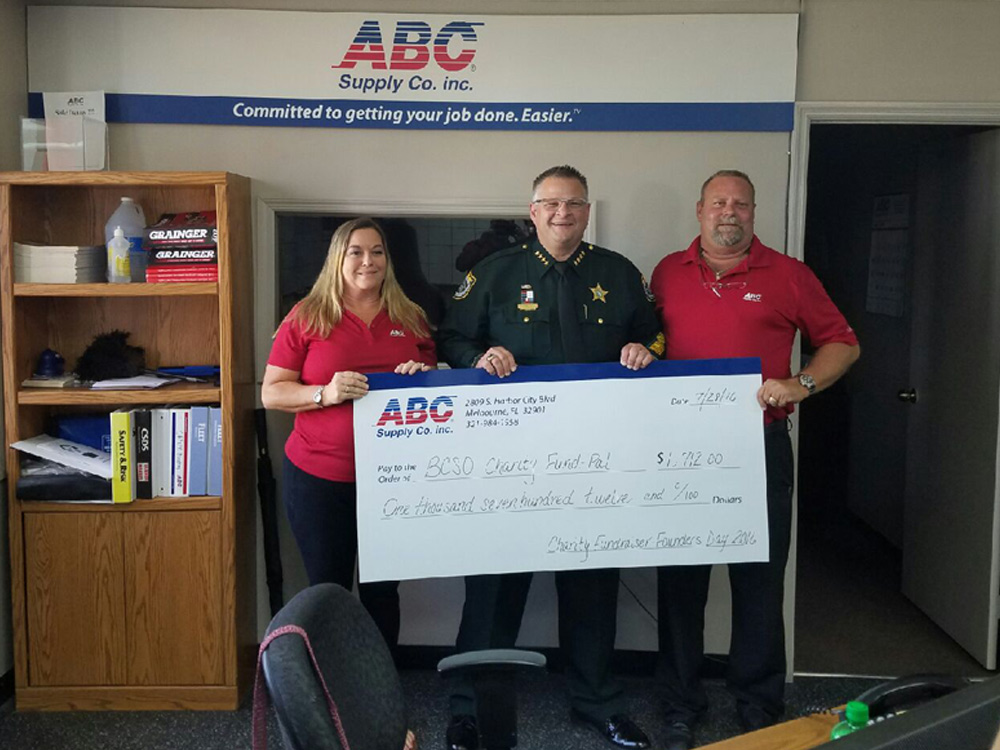 ABC Supply donation check