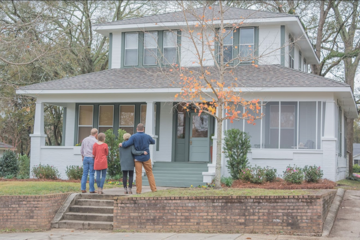 Smith Family Admiring Their Home - HGTV Home Grown