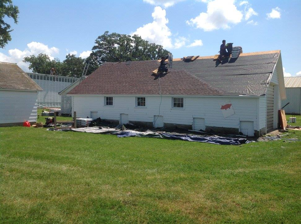 Getting New Roof Shingles - Silverwood Park