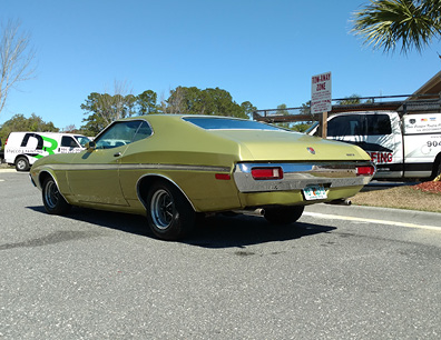 Mike Boucher 72 Gran Torino Rear