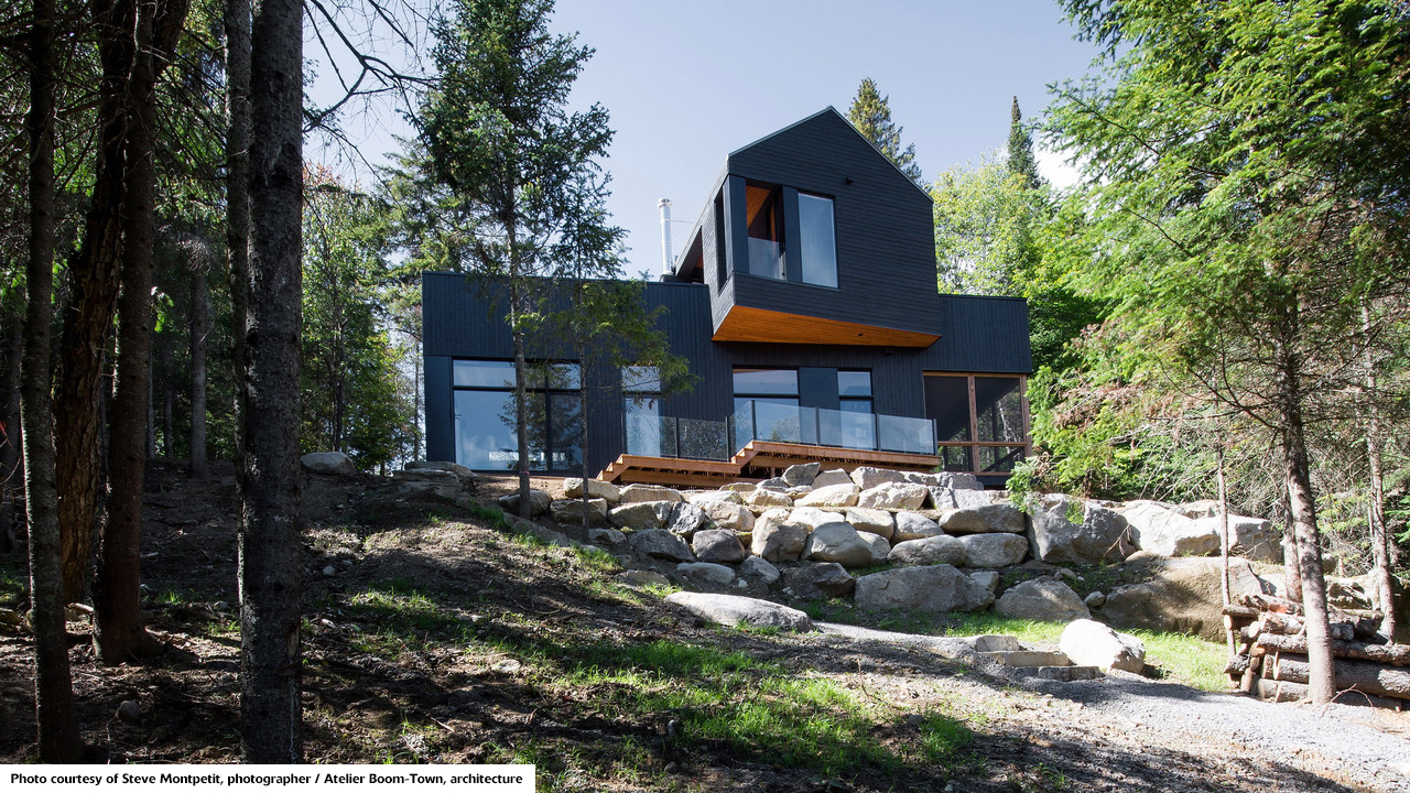 black Quebec chalet
