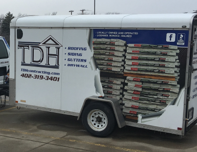 TDH Contracting trailer wrap