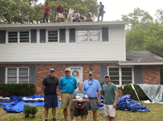 Ben Murphy Roofing crew at Ms. B's house