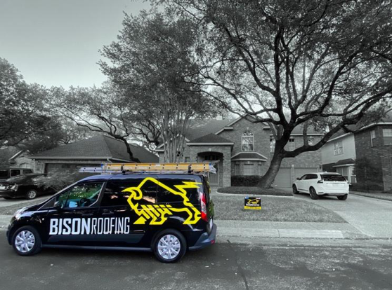Bison Roofing's Wrapped company truck(s)