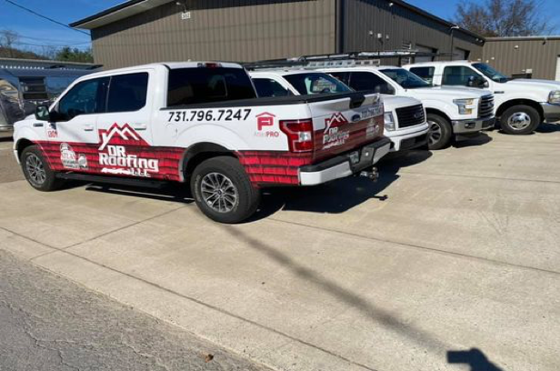 DR Roofing's Wrapped company truck(s)