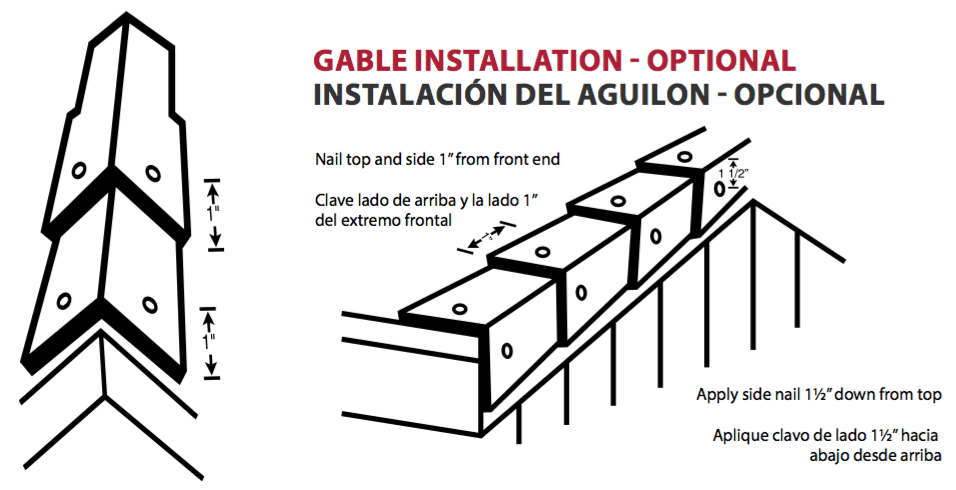 Gable Roof Installation : Pro cut high profile hip and ridge shingles atlas roofing