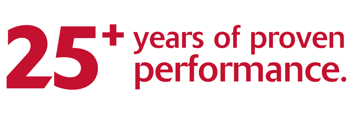 25 years of proven performance