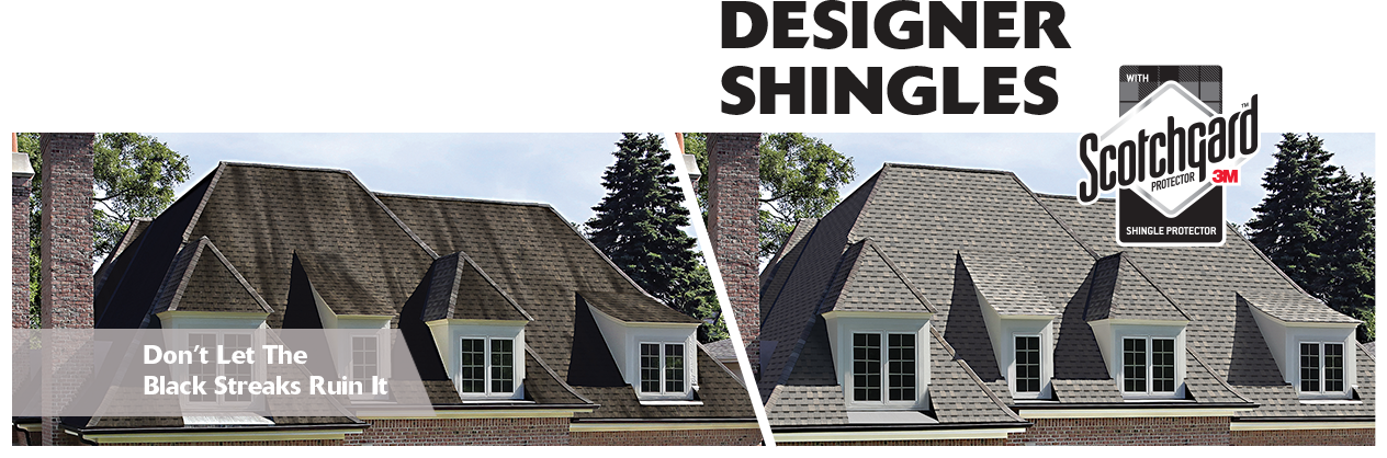 Atlas Designer Shingles Featuring Scotchgard Protector Split House