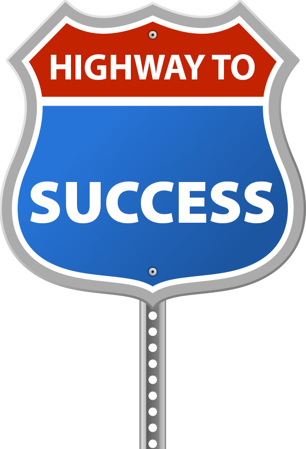 Highway To Success Sign