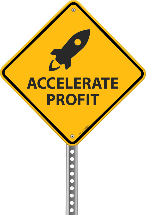 Accelerate Profit Road Sign